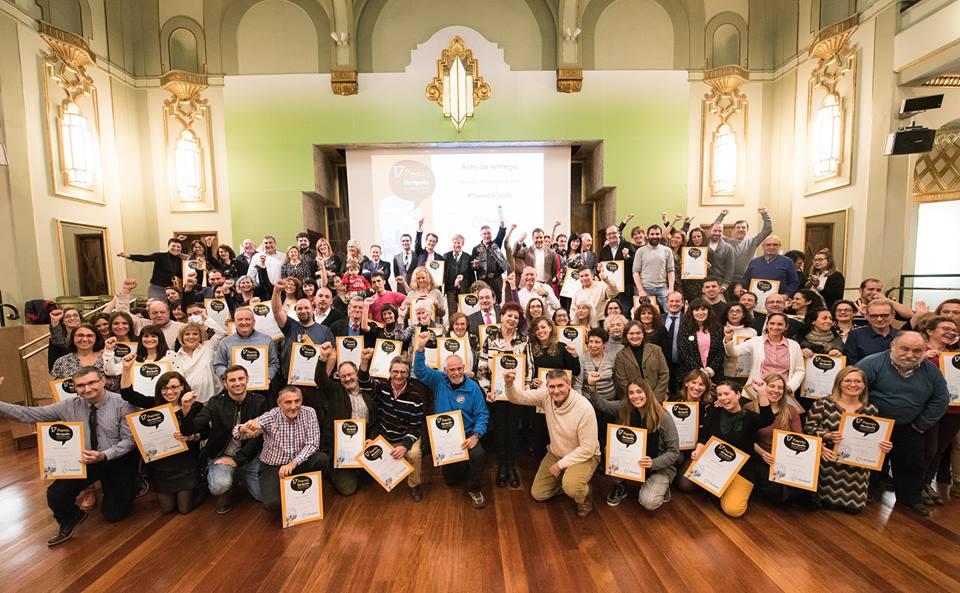 Foto de grupo 17º Premio Ebrópolis a las buenas prácticas ciudadanas